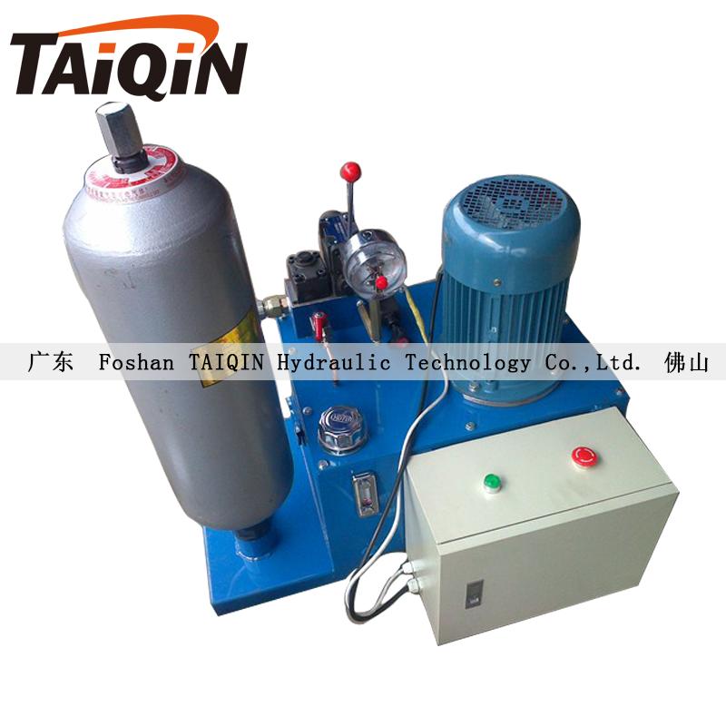 塑料造粒机液压快速换网机储能器液压站